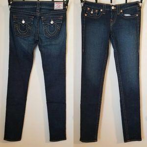 True Religion Low-Rise Skinny Jeans. Size: 29x30
